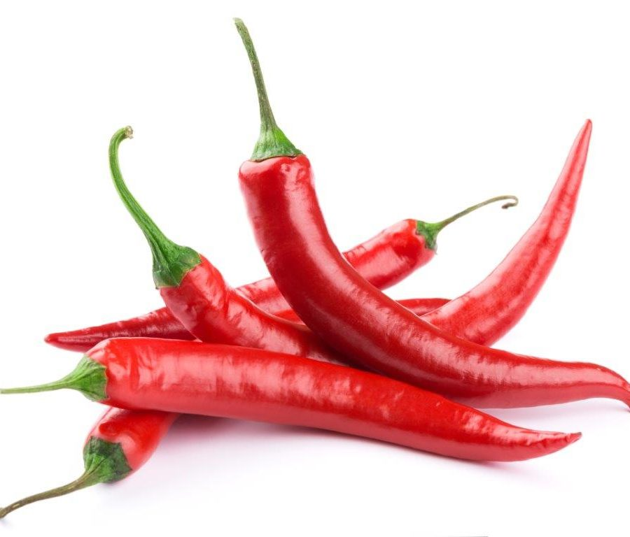 A pile of red chili's